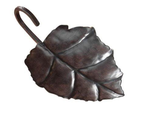Metal Leaf Candle Holder