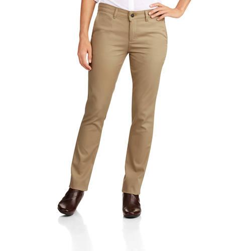 Women's Slim Fit Straight Leg Stretch Twill Pant
