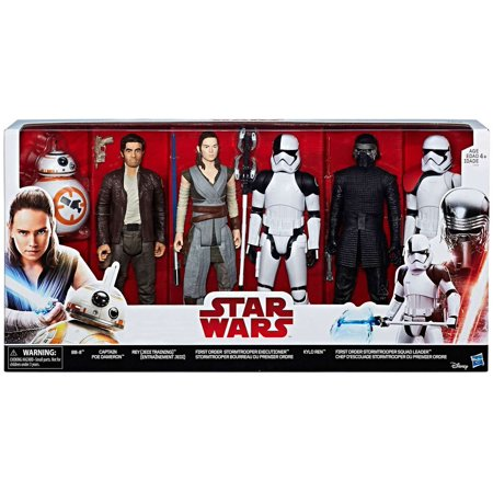 Star Wars The Last Jedi BB-8, Captain Poe Dameron, Rey, Storm Trooper Executioner, Kylo Ren, Stormtrooper Squad Leader Action Figure 6-Pack](Stormtrooper Life Size Statue)