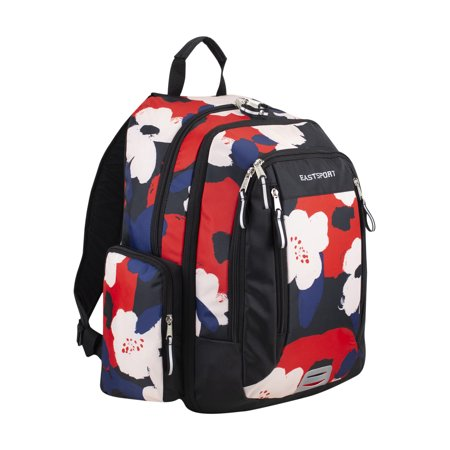 Eastsport Spacious XL Expansion Backpack, Floral Blob