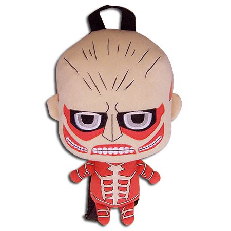 Plush Backpack - Attack on Titan - Colossal Titan New Licensed (Attack On Titan Odm Gear Real Life)