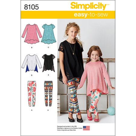 Simplicity Childs' Size 7-14 Knit Sportswear Pattern, 1 Each