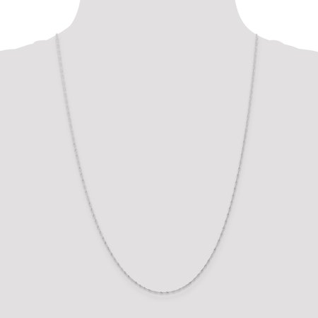 14K White Gold 1mm Singapore Chain (CARDED) 20 Inch - image 1 de 6