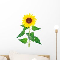 Sunflower Wall Decal by Wallmonkeys Peel and Stick Graphic (18 in H x 14 in W) WM108229