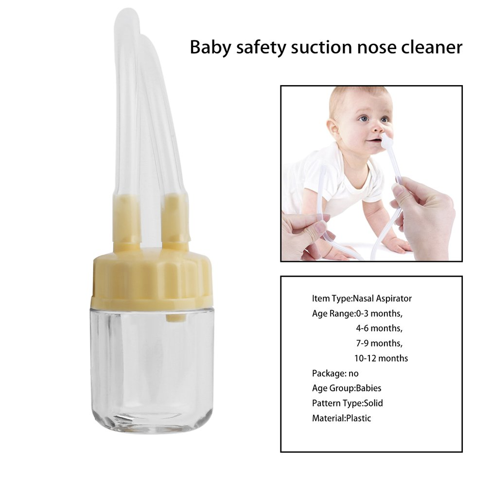Baby Safe Nose Cleaner Vacuum Suction Nasal Mucus Runny Aspirator Inhale,
