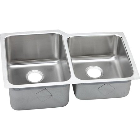 Elkay Lustertone Eluh3120r Offset Double Bowl Undermount Stainless
