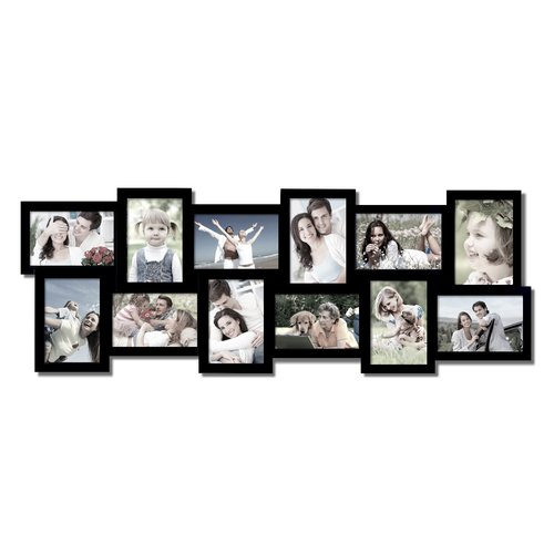 Adeco Trading 12 Opening Collage Picture Frame