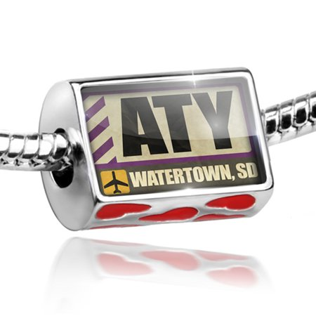 bead airportcode aty watertown sd charm fits all european bracelets