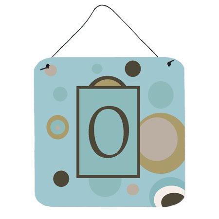 - Letter O Initial Monogram - Blue Dots Wall or Door Hanging Prints