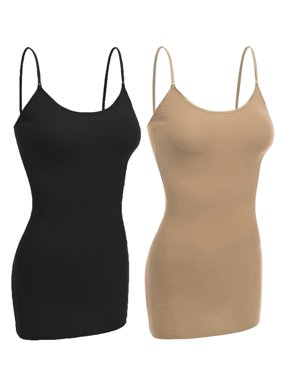 6220d1a0788 Product Image Essential Basic Women Basic Built In Bra Spaghetti Strap  Layering Cami Top Tank - Junior Size