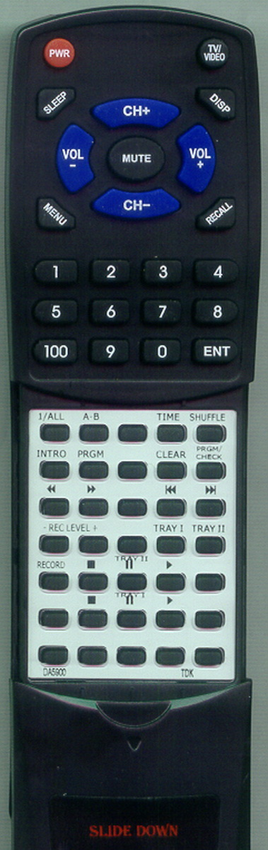 Replacement Remote for TDK RTDA5900, DA5900 by Redi-Remote