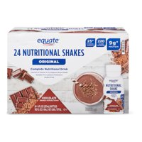 Equate Original Meal Replacement Nutritional Shake, Chocolate, 8 Fl Oz, 24 Ct