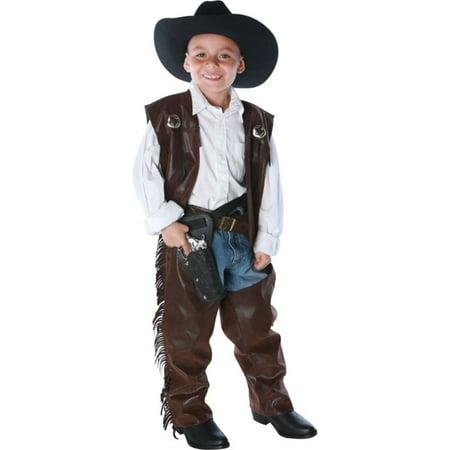 Morris Costumes Boys Cowboy Chaps Vest Child Large, Style - Vest Cowboy