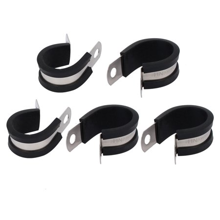 22mm Dia EPDM Rubber Lined P Clips Cable Hose Pipe Clamps Holder (Pipe Holder)
