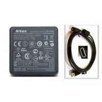 Genuine USED Nikon EH-69P, EH-68P, Charging AC Adapter + USB Cable for S100, Nikon S2500, Nikon S3100, Nikon S3300