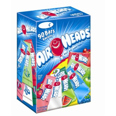 Airheads, Chewy Fruit Candy Bar, Variety Pack, 90 Ct