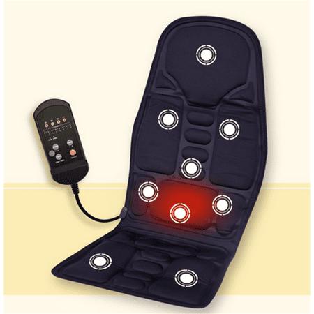 car massage seats black comfortable car seat back neck lumbar massage cushion heated mat pad. Black Bedroom Furniture Sets. Home Design Ideas