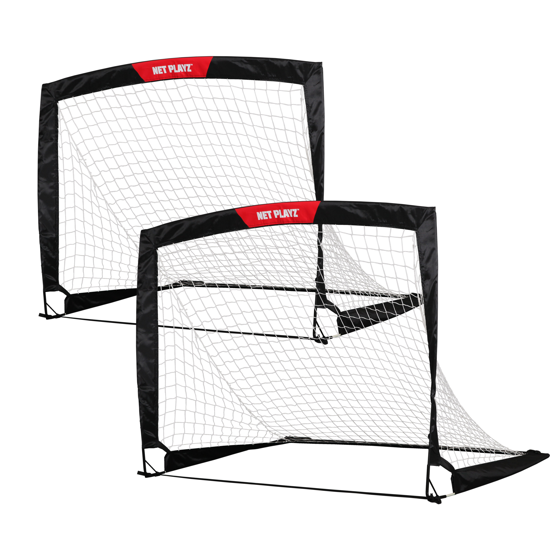 Net Playz 4'x3' Soccer Goal Easy Fold-Up Training Goal, Pair or Single