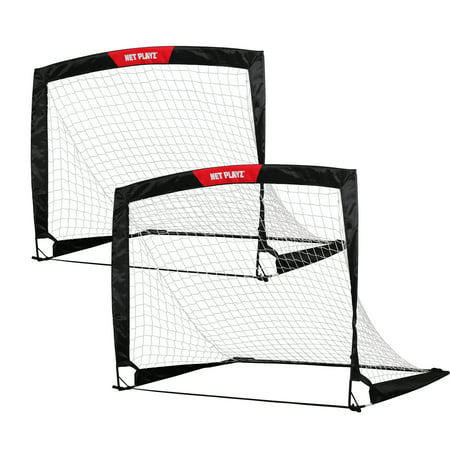 Net Playz 4X3 Soccer Goal Easy Fold Up Training Goal  Set Of 2