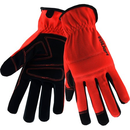 Hyper Tough Economy Performance Glove with Padded Knuckle (Medium), 1-Pair, Color Varies