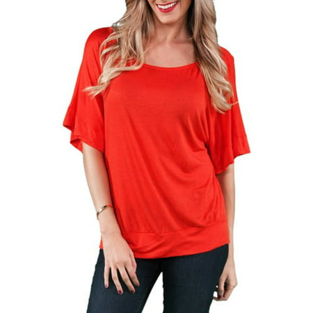 Women's Banded Dolman Top