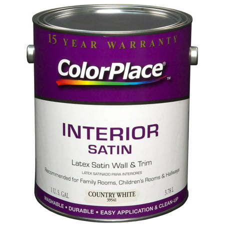 color place interior satin paint country white