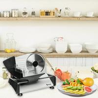 "Lowestbest 110V/150W 7.5"" Semi-automatic Gear Cutter, Machine Home Deli Food Slicer, Gray"
