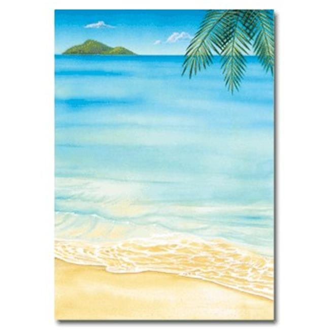 Masterpiece Studios 152439 Tropical Flat Card Invitations And Envelopes