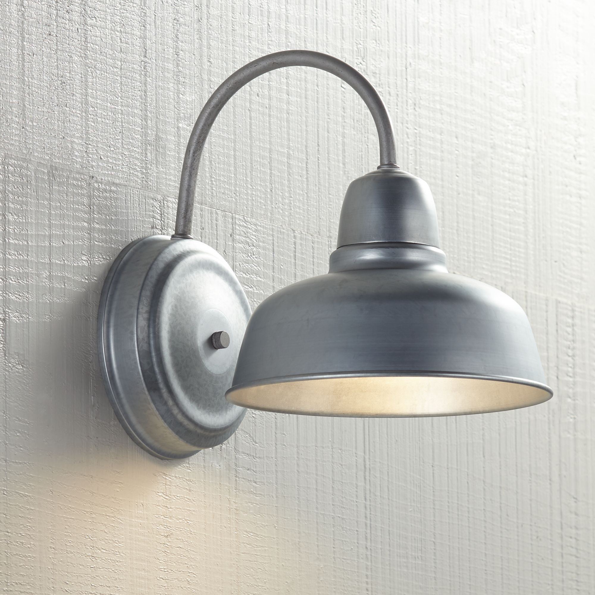 "John Timberland Urban Barn 11 1/4"" High Galvanized Indoor-Outdoor Wall Light"