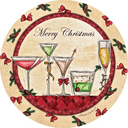 Merry Christmas Coaster - Thirstystone Occasions Drink Coasters, Merry Christmas Drink Coasters