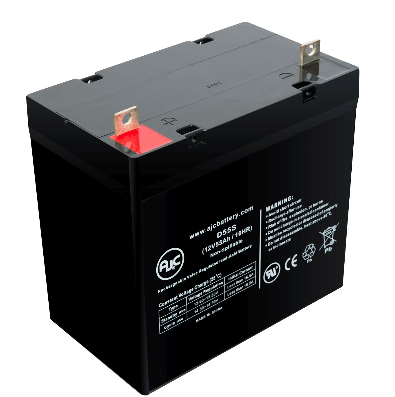 Bladez President 12V 55Ah Scooter Battery - This is an AJC Brand® Replacement