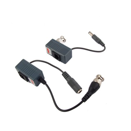 Unique Bargains CCTV Coax BNC to RJ45 Video Power Balun UTP Passive Transceiver 2pcs