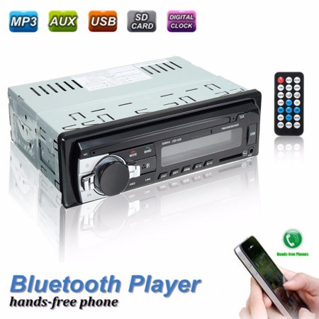 bluetooth 1 DIN Car Stereo Audio In-Dash FM Aux Input Receiver SD USB MP3  Radio