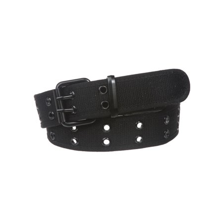 Double Hole Grommets Canvas Web Belt Belted Double Breasted Belt