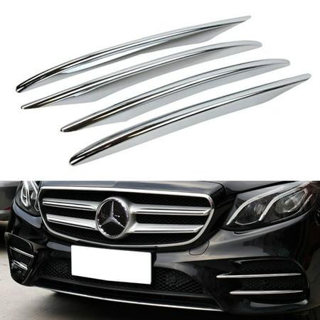Ijdmtoy 4Pc Lower Bumper Chrome Trims For 2017 Up Mercedes Benz W213 E Class Sedan E250 E300 E400 E43  Etc  Exclude Luxury Line