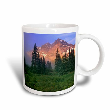 Bell Shape Mug (3dRose USA, Colorado, Snowmass Wilderness. Maroon Bells on a foggy morning., Ceramic Mug, 15-ounce)