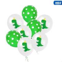 AkoaDa 10Pcs 12 Inch Cartoon Dinosaur Confetti Balloon Baby Shower Children Party Happy Birthday Balloon Party Diy Decoration