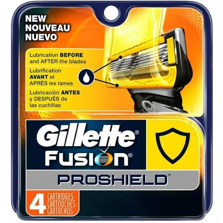 Gillette Fusion Proshield Men's Razor Blade Refills 4 ea (Pack of 2)