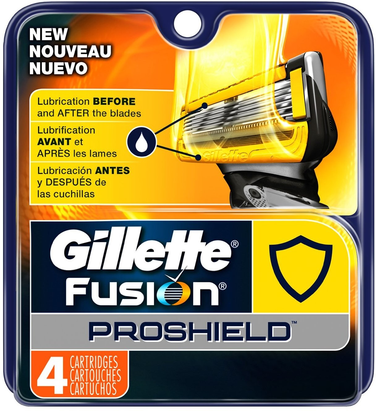 Gillette Fusion Proshield Men's Razor Blade Refills 4 ea (Pack of 3)