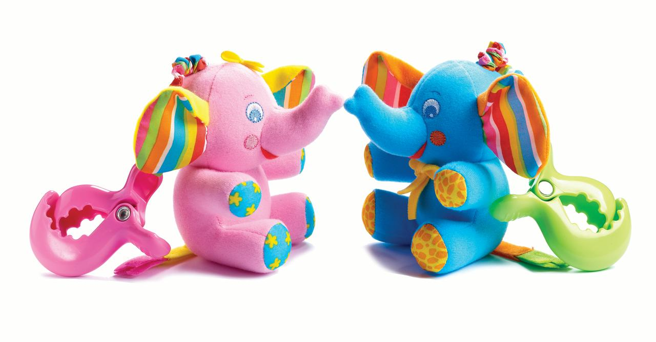 Tiny Love Tiny Smart Eli Elsie Elephant Rattle Baby Toy Eli Walmart Com