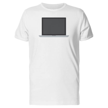 Flat Screen Laptop Tee Men's -Image by (Flat Top Computer)