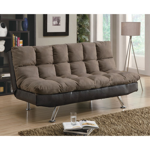 Coaster Two Tone Sofa Bed, Brown