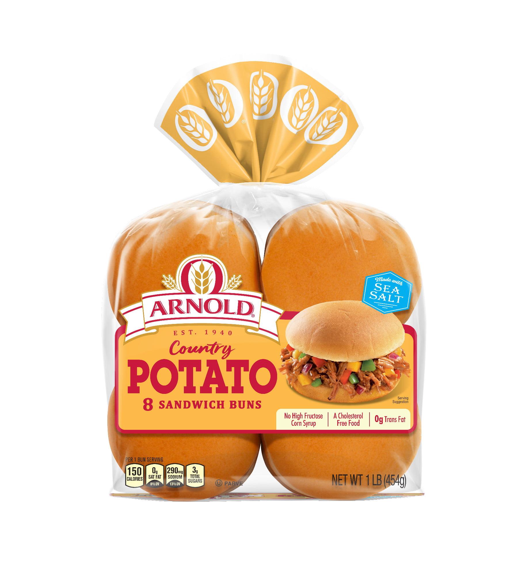 Arnold Country Potato Sandwich Buns, 8 Buns, 16 oz