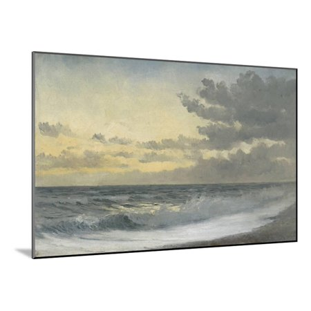 Melody Collection Oil (Twilight - Sad Melody (Oil on Board) Wood Mounted Print Wall Art By William Pye)