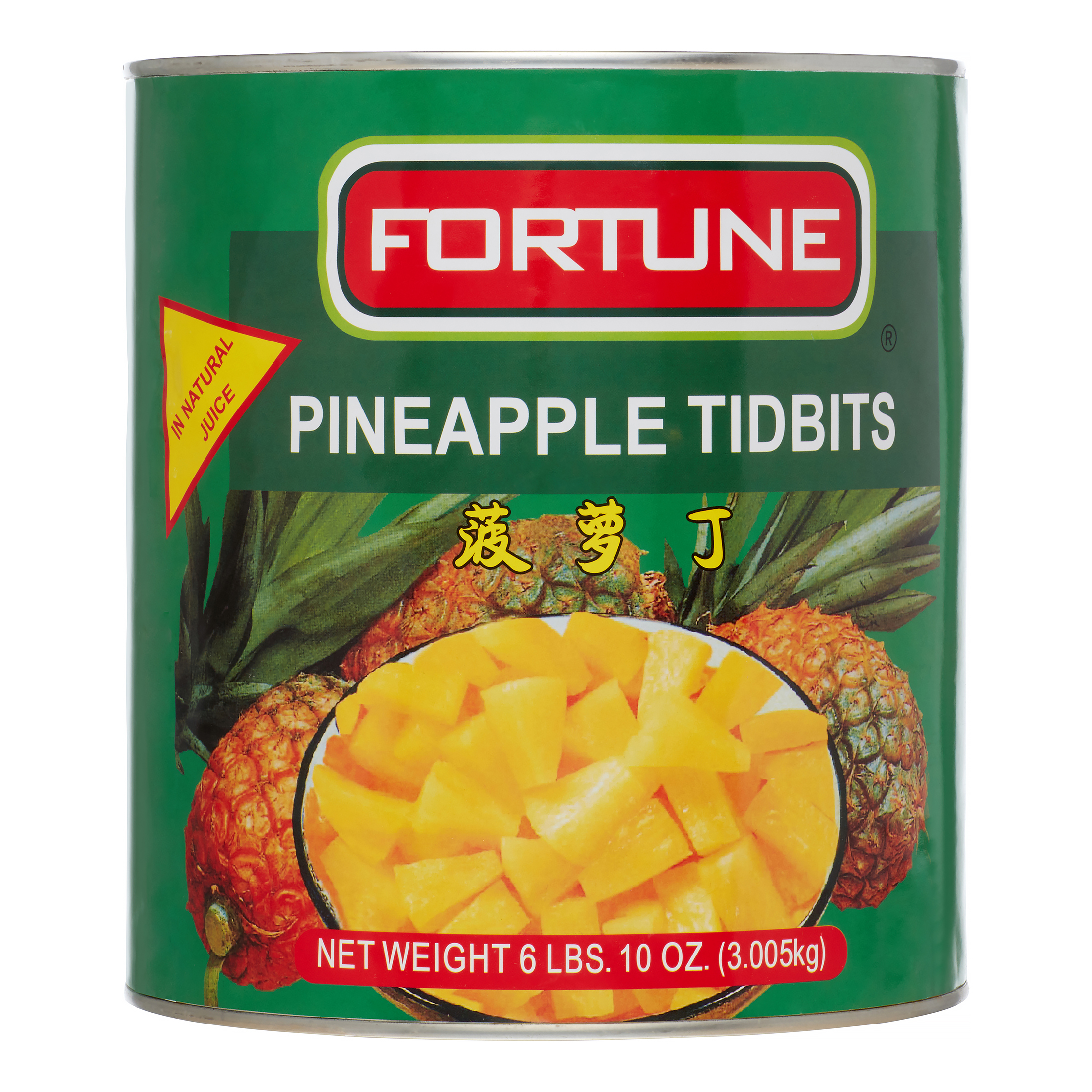 Fortune Pineapple Tidbit In Natural Juice, 106 Oz