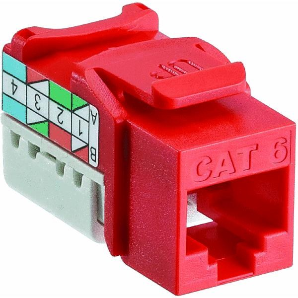 CAT6 QK PORT ORANGE