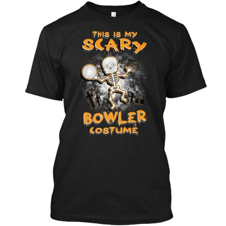HALLOWEEN BOWLING Hanes Tagless Tee T-Shirt (Halloween Bowling)
