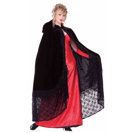 Womens Halloween Cape (Womens Black Victorian Halloween Costume)
