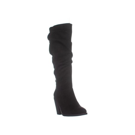- Womens ESPRIT Kingston Side Zip Knee High Boots, Black