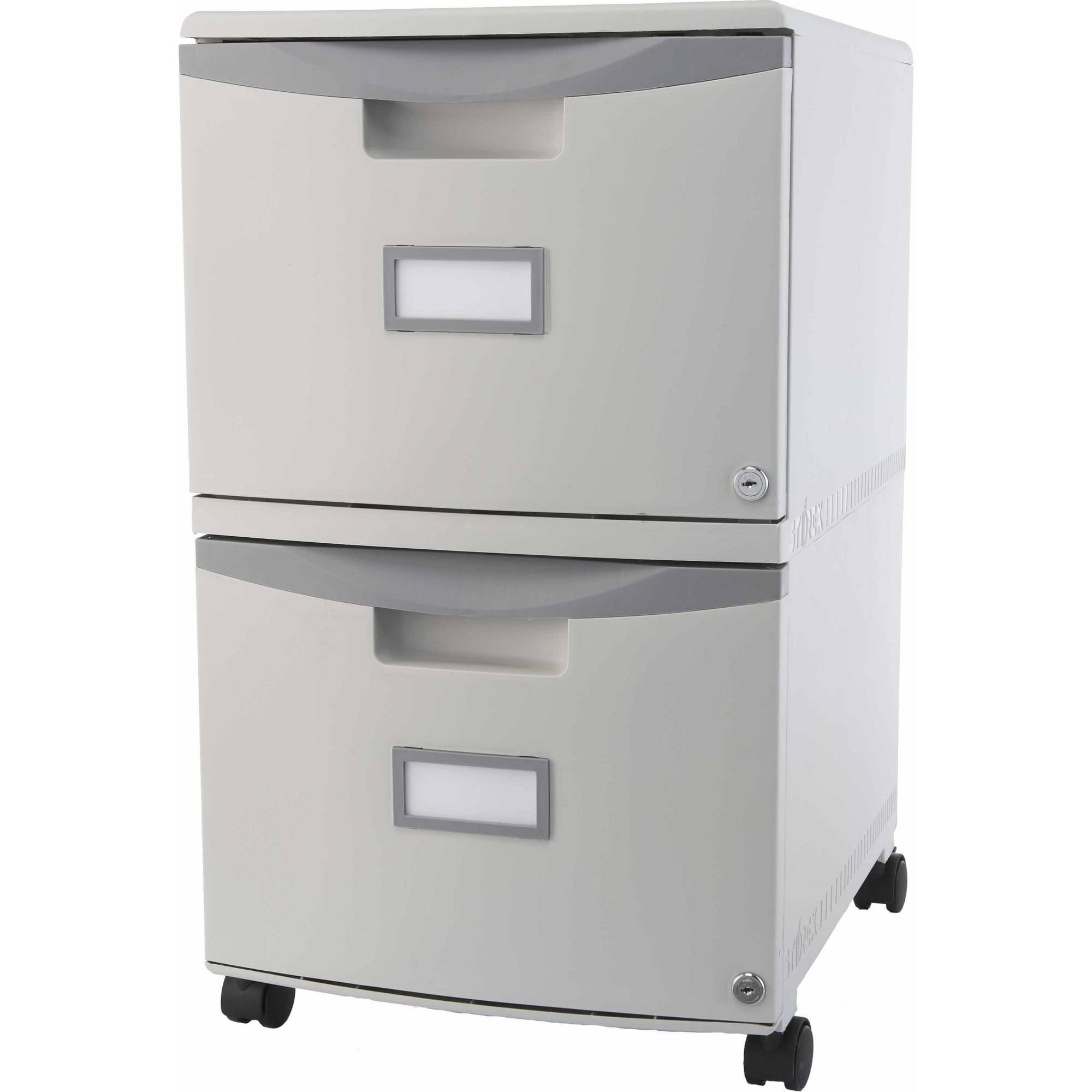 Gentil Storex 2 Drawer Mobile File Cabinet With Lock And Casters, Legal/Letter